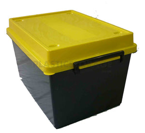 32L Storage Box Black & Yellow