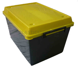 45L Storage Box Black & Yellow