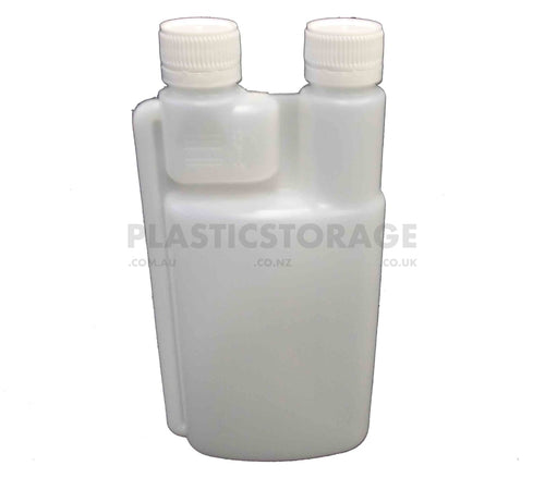 500Ml Double Chamber Bottle & 2 X Cap