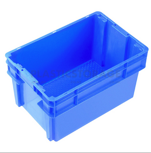 52L Stackable And Nesting Solid Crate Base Blue