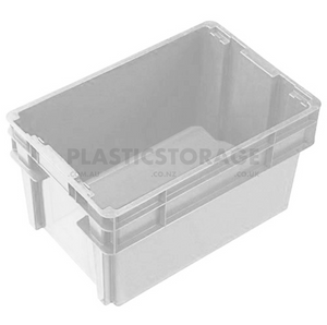 52L Stackable And Nesting Solid Crate Base Natural