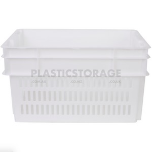 52L Stackable And Nesting Vented Crate Base Natural