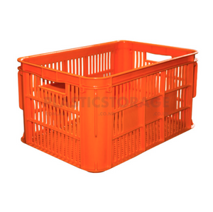 65L Lug Box Orange