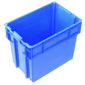 78L Stackable And Nesting Solid Crate Base Blue