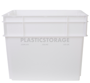 78L Stackable And Nesting Solid Crate Base Natural