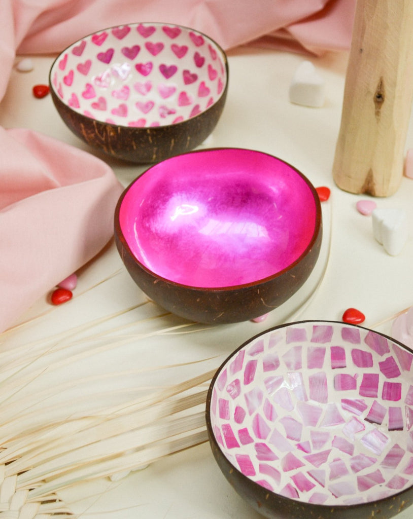 The pink coconut bowl set