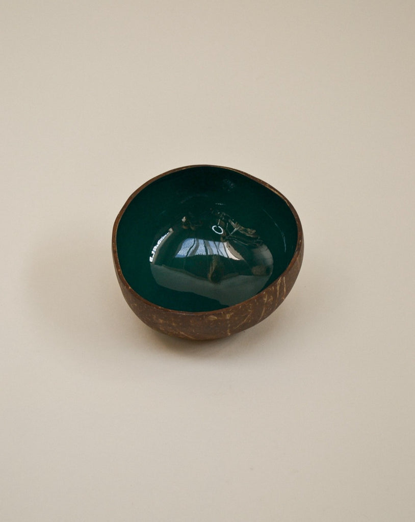 'Forest green' coconut bowl
