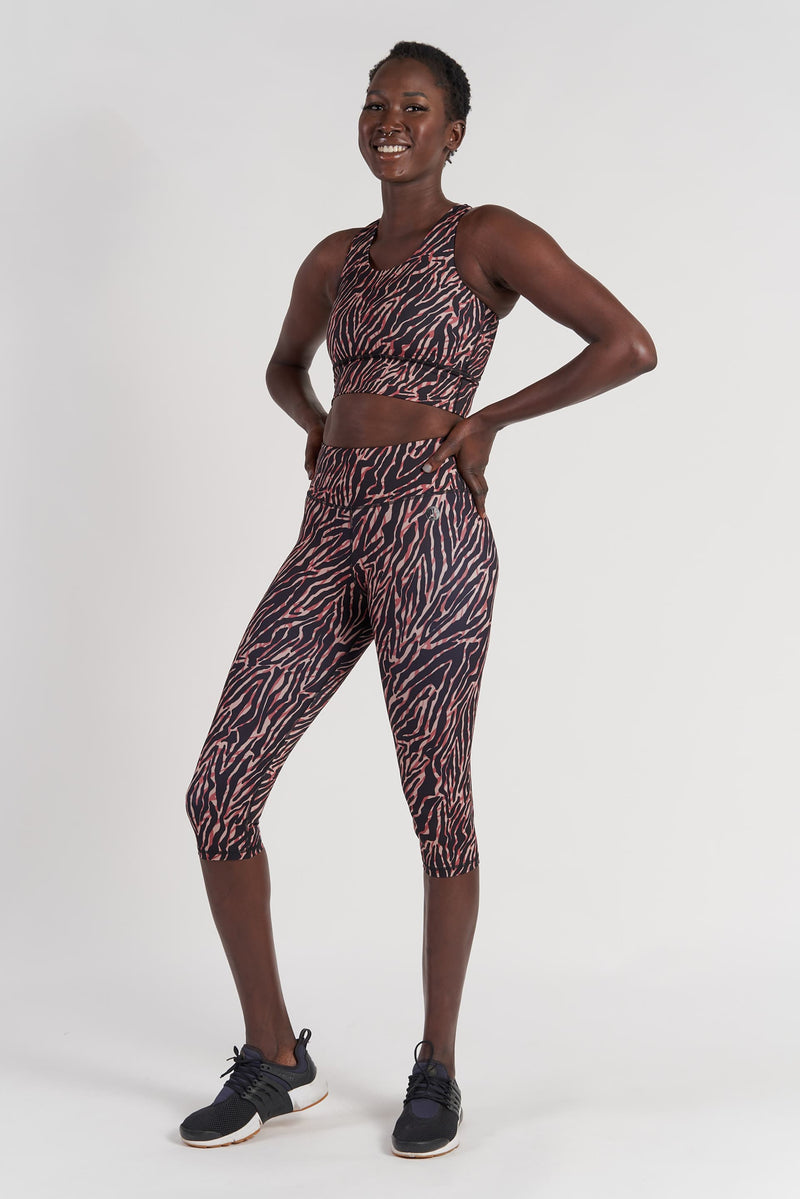 Essential 3/4 Length Tight - Zebra from Active Truth USA