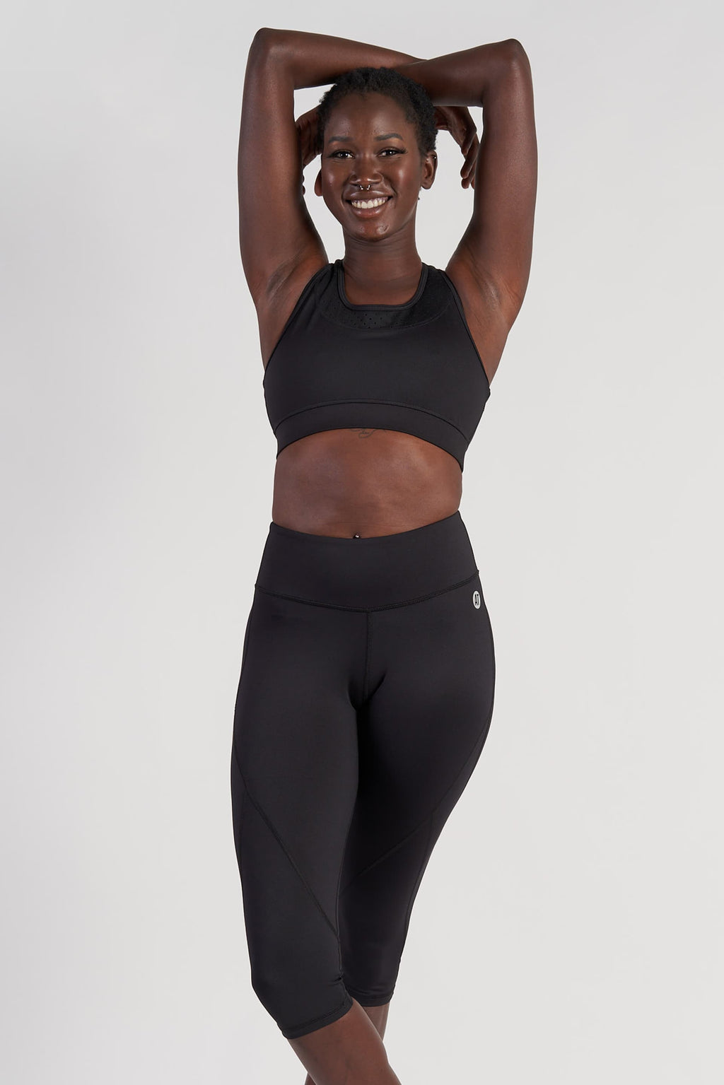 Power 3/4 Length Tight - Black from Active Truth USA