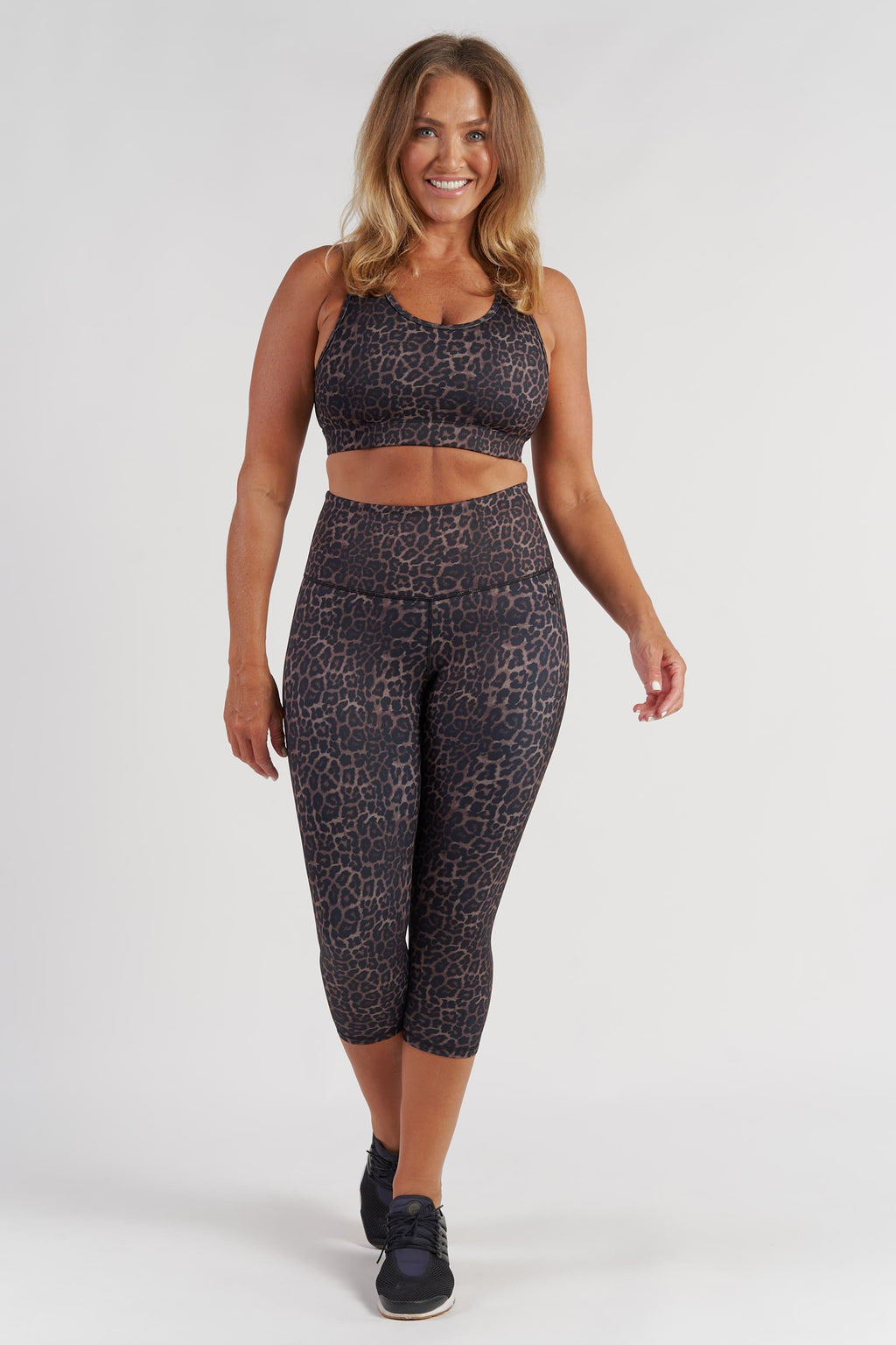 Essential 3/4 Length Tight - Bronze Leopard from Active Truth USA