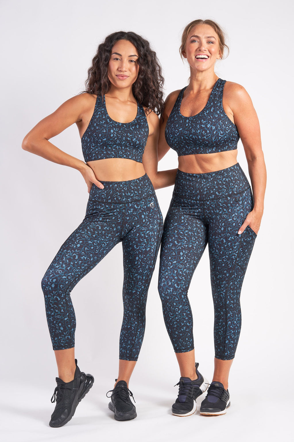 Smart Pocket 7/8 Length Tight - Emerald Leopard from Active Truth USA