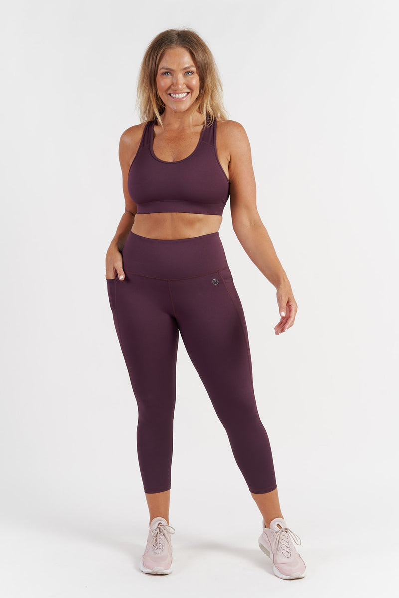 Training Pocket 7/8 Length Tight - Wine from Active Truth USA
