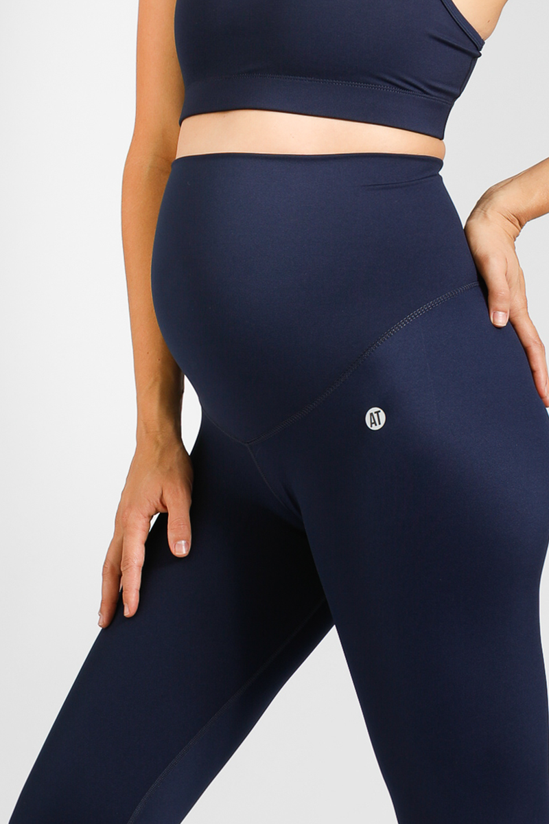 Mama Full Length Pregnancy Tight - Navy from Active Truth USA