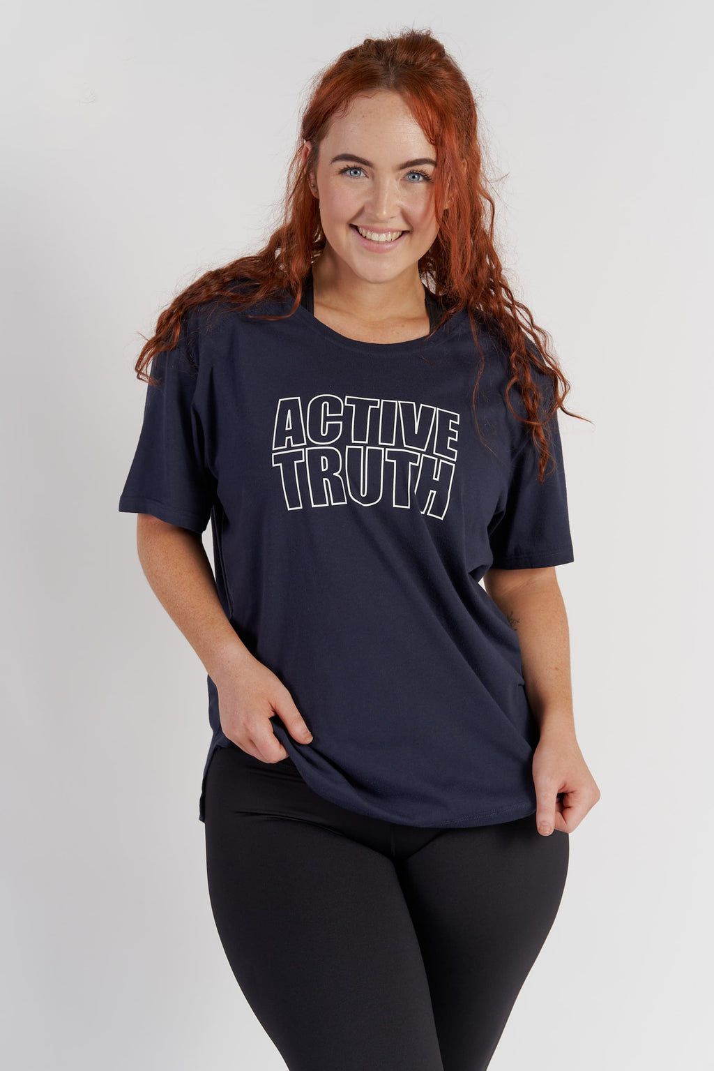 Crew Neck Logo T-Shirt - Navy from Active Truth USA