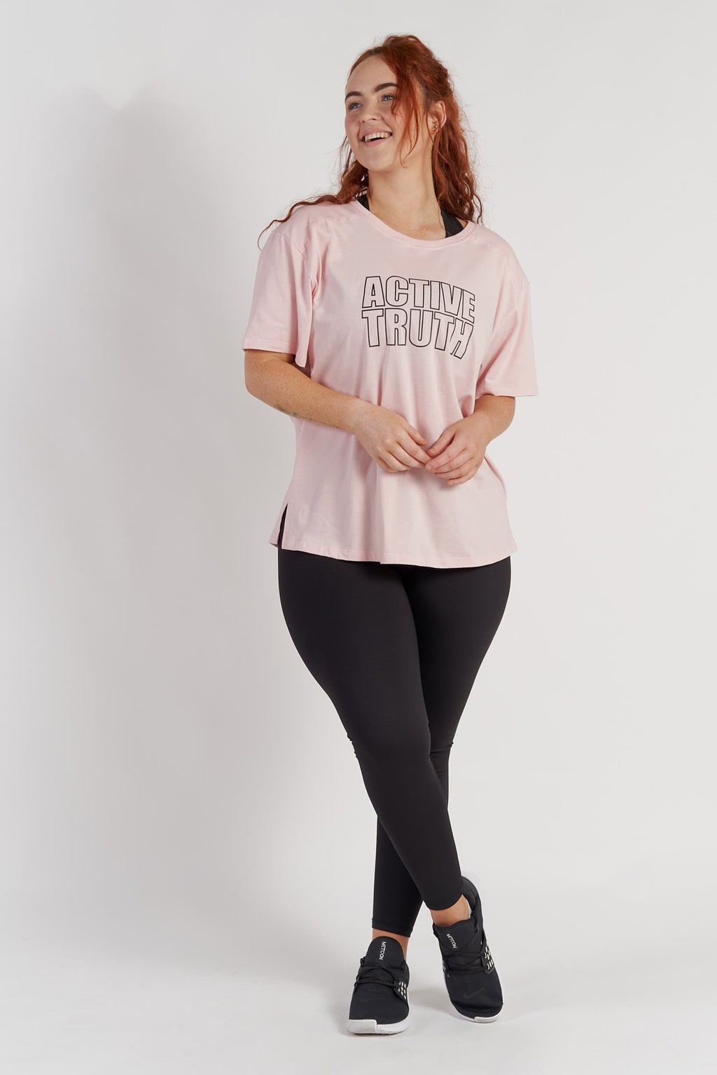 Crew Neck Logo T-Shirt - Blush from Active Truth USA
