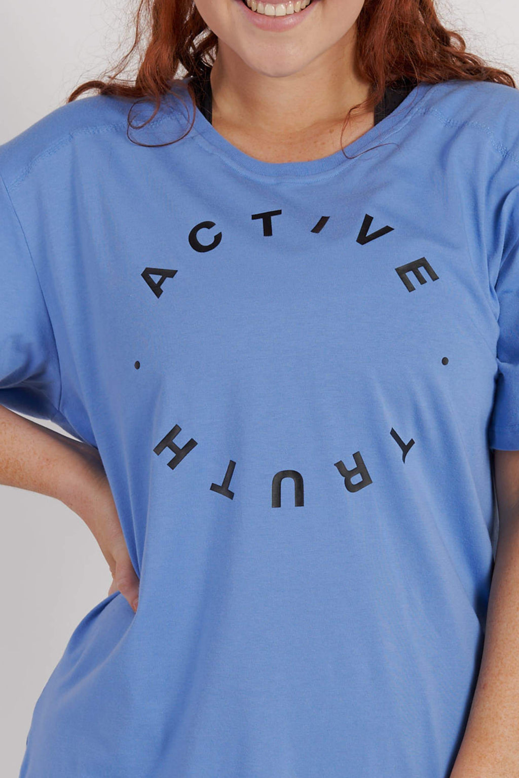 Crew Neck Logo T-Shirt - Sky from Active Truth USA