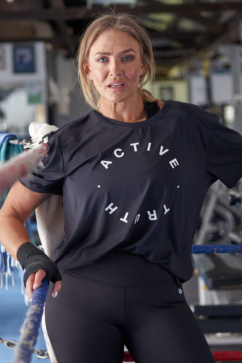 Performance T-Shirt - Black Circle from Active Truth USA
