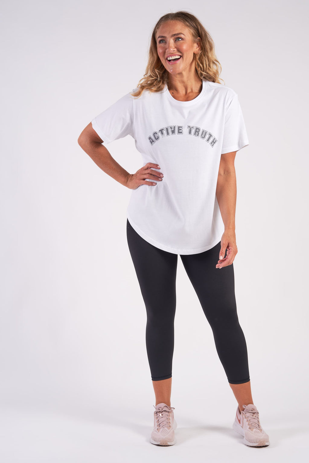 Basic Crew Neck Organic Cotton T-Shirt - White from Active Truth USA