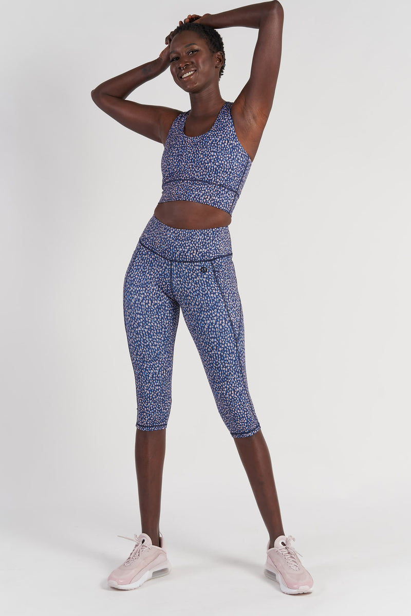 Training Pocket Cropped Length Tight - Raindrop from Active Truth USA
