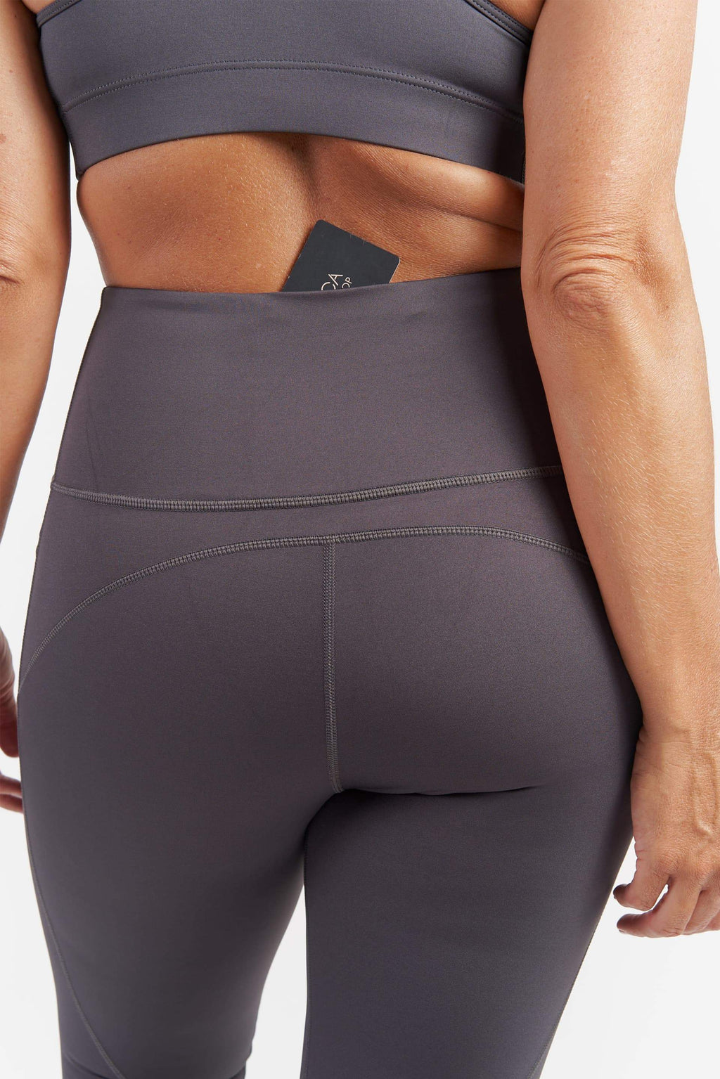 Training Pocket 3/4 Length Tight - Grey from Active Truth USA