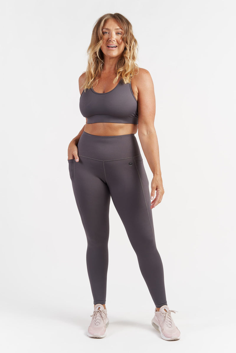 Training Pocket Full Length Tight - Grey from Active Truth USA