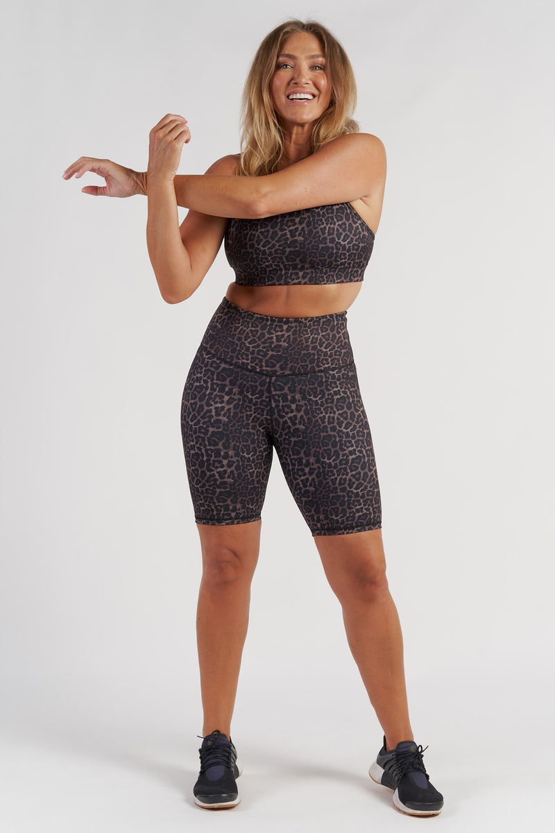 Essential Bike Short - Bronze Leopard from Active Truth USA