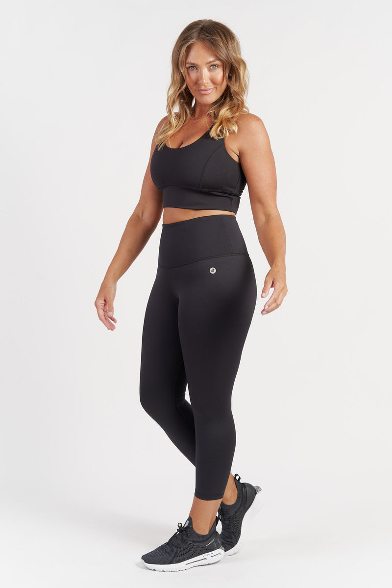 Sports Crop - Black from Active Truth USA