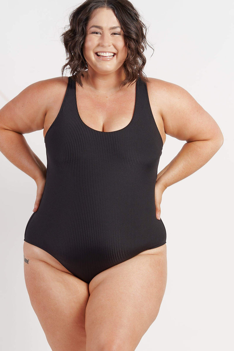 Noosa One Piece - Black Ribbed from Active Truth USA
