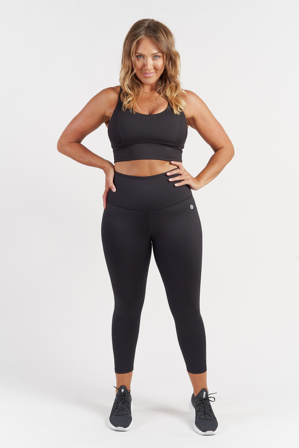 Ultra High Waist 7/8 Length Tight - Black from Active Truth USA