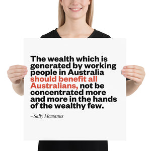 Wealth Sally Mcmanus Poster