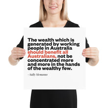 Load image into Gallery viewer, Wealth Sally Mcmanus Poster