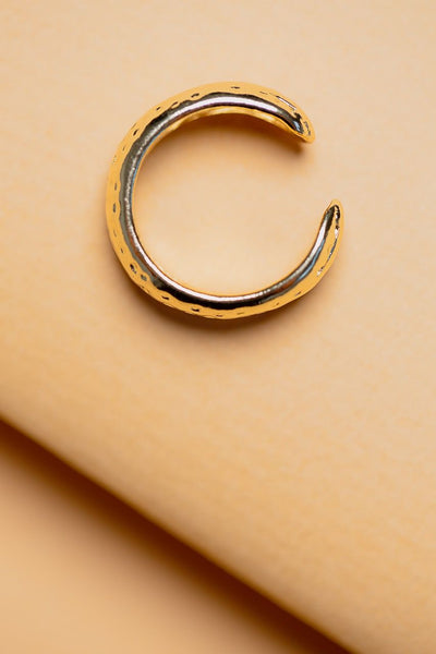 ZAFINO - ADJUSTABLE HAMMERED RING - 14K GOLD PLATED