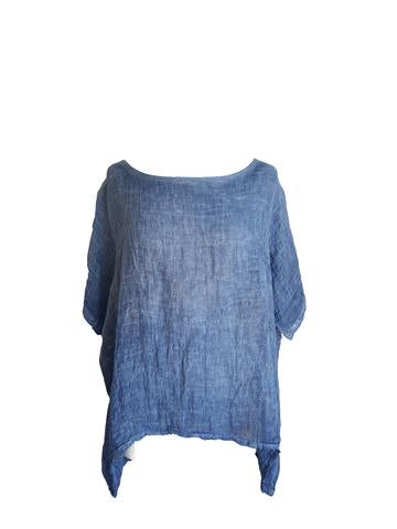 Kiitos - Linen Gauze Top - Denim