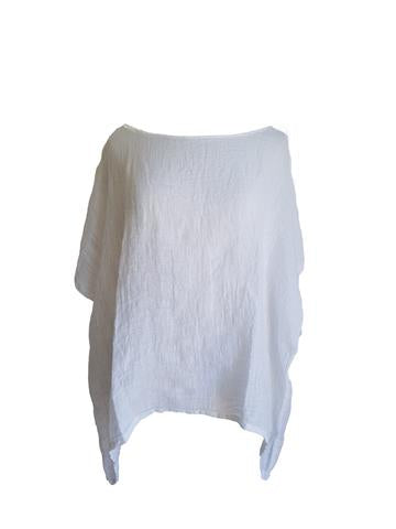 Kiitos - Linen Gauze Top - White