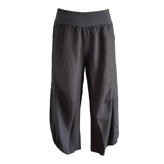 Kiitos - Linen Pants - Charcoal