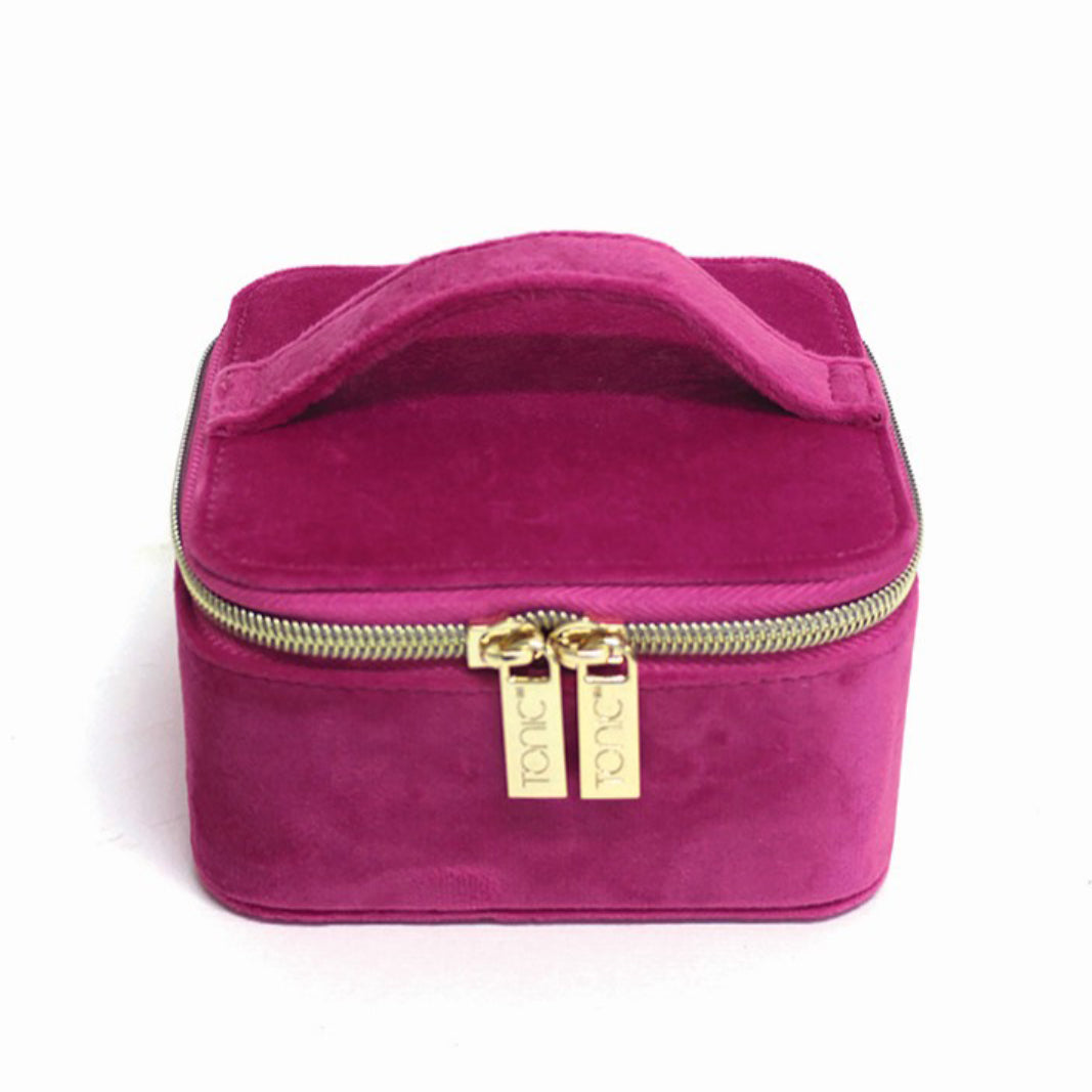 Tonic - Luxe Velvet Jewellery Cube - Berry