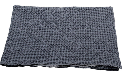 VIGO HONEYCOMB THROW - GREY