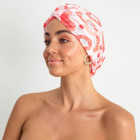LOUVELLE - AMELIE shower cap - Peach Papaya