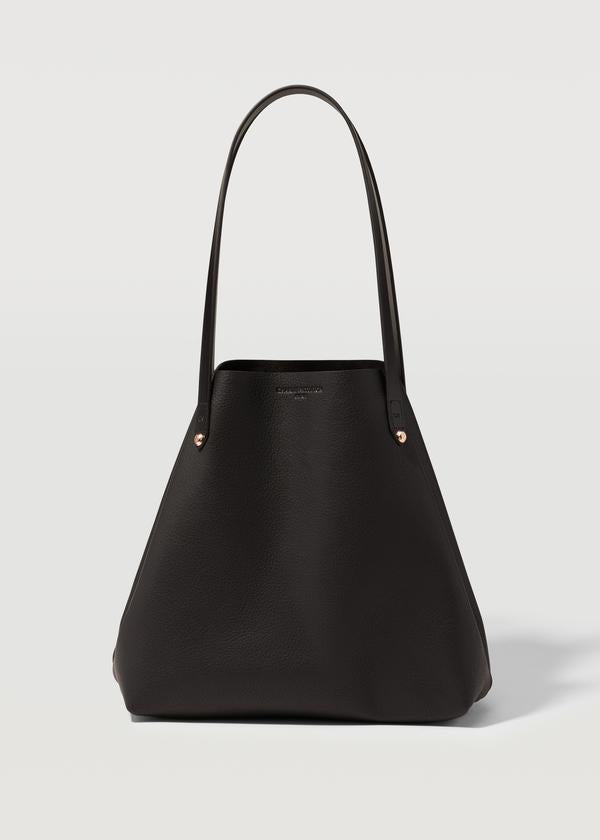 CHARLIE MIDDLETON - BLACK NAPPA MINI BESPOKE TOTE