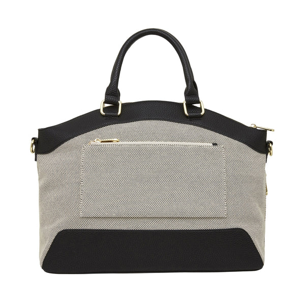 Elms + King - Bronte Work Bag - Black & Canvas