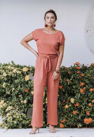 HUMIDITY - CAPRI JUMPSUIT - TERRACOTTA
