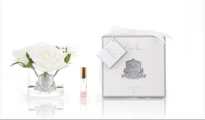 COTE NOIRE - PERFUMED NATURAL TOUCH 5 ROSES - CLEAR - IVORY WHITE