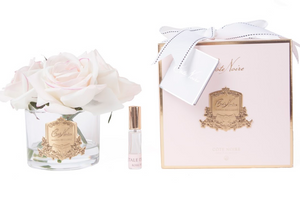 COTE NOIRE - PERFUMED NATURAL TOUCH 5 ROSES - CLEAR - PINK BLUSH - PINK BOX