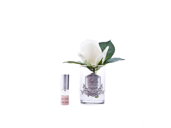 COTE NOIRE - PERFUMED NATURAL TOUCH ROSE BUD - CLEAR - IVORY WHITE