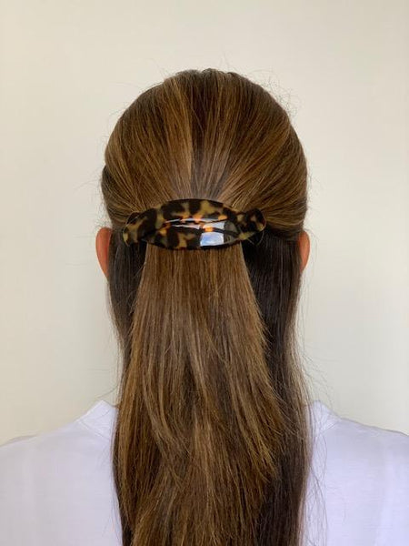 Paris Mode - Hair Clip Helen - Dark Tortoise Shell