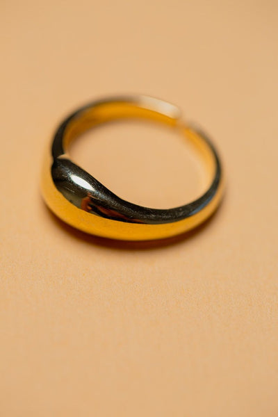ZAFINO - ADJUSTABLE SIMPLE RING - 14K GOLD PLATED