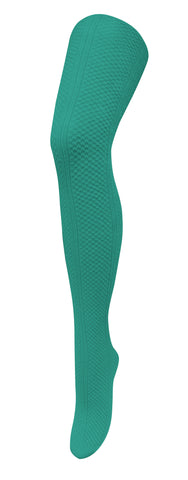 TIGHTOLOGY - MEADOWS EMERALD COTTON TIGHTS