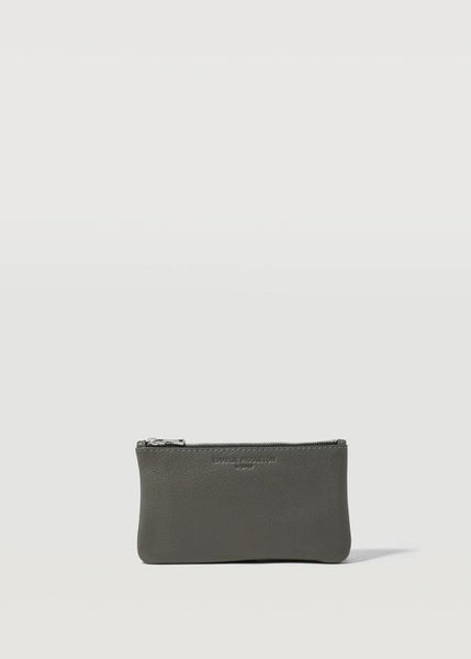 CHARLIE MIDDLETON - GREY NAPPA MINI POCHETTE - ROSE GOLD HW