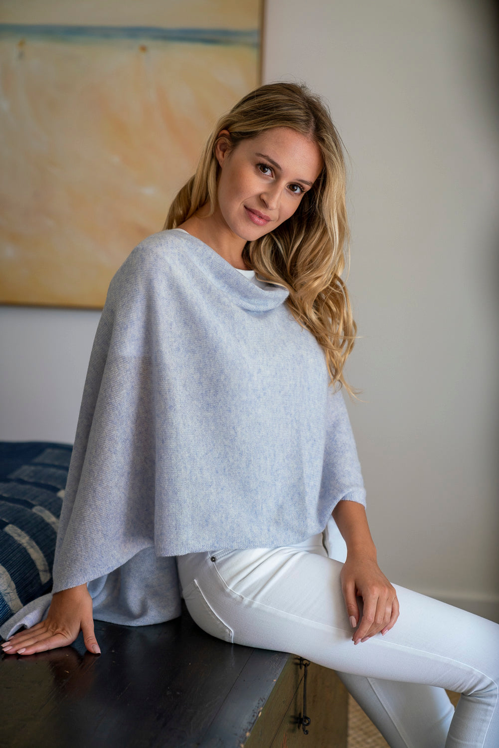 Cashmere Topper - Periwinkle