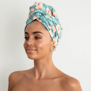 LOUVELLE - RIVA Hair Towel Wrap - Poolside Peony